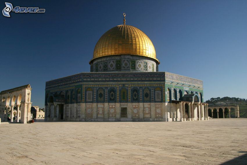 Dome of the Rock, torg, Jerusalem