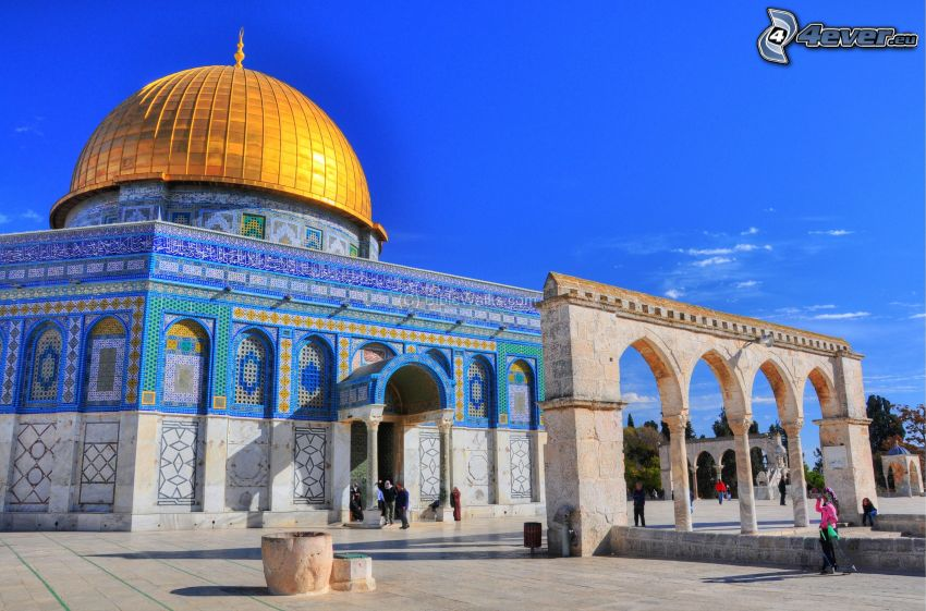 Dome of the Rock, valv, torg, Jerusalem