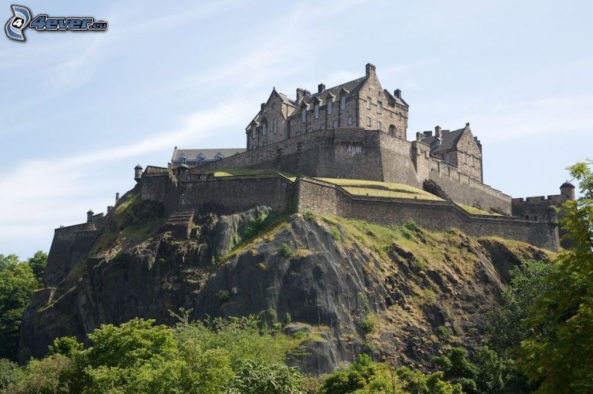 Edinburgh Castle, klippa