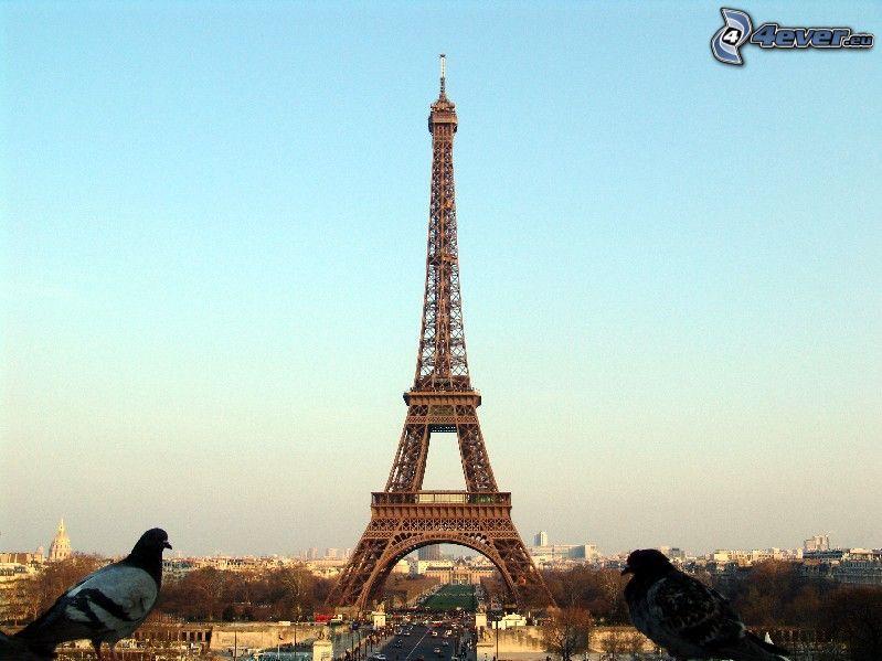Eiffeltornet, Paris, Frankrike, byggnader