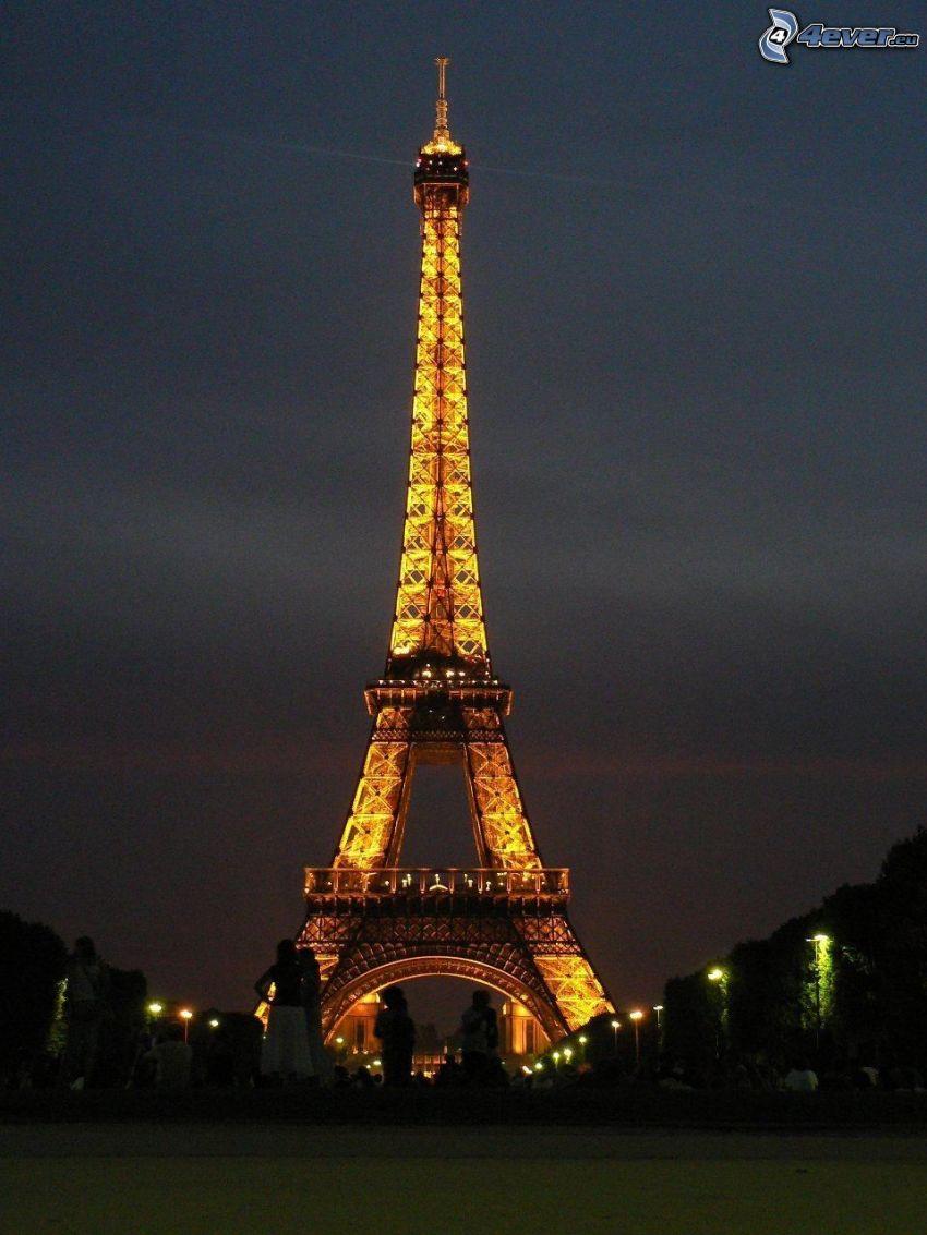 Eiffeltornet på natten