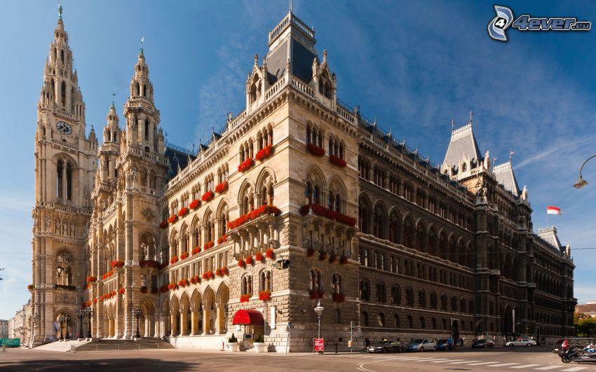 historisk byggnad, Wien, Österrike