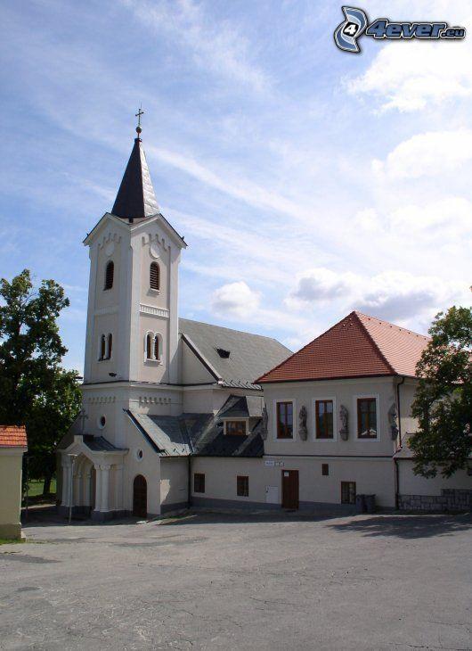historiskt torg, kyrka, Nitra