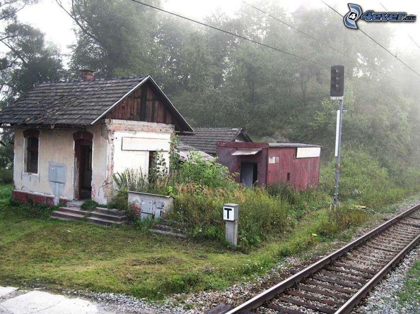 hus, järnväg