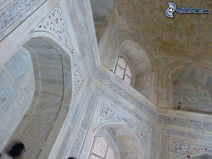 interiör av Taj Mahal, fönster