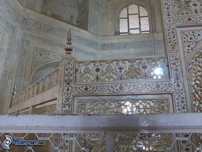 interiör av Taj Mahal