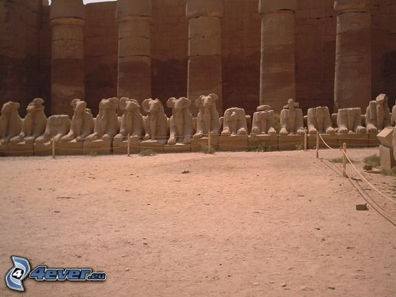 Karnak, tempel, ruiner, ruin