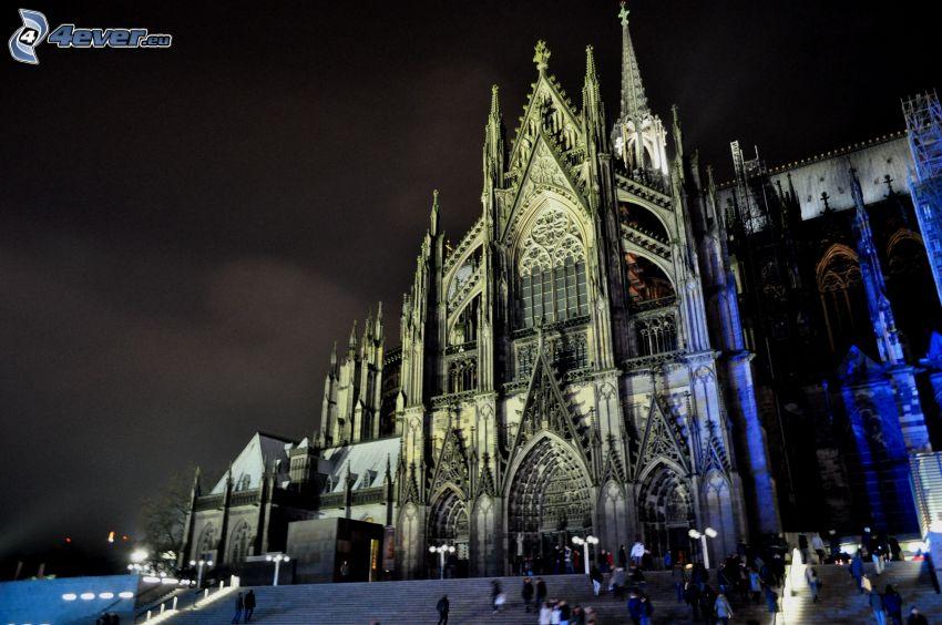 Katedralen i Köln, natt