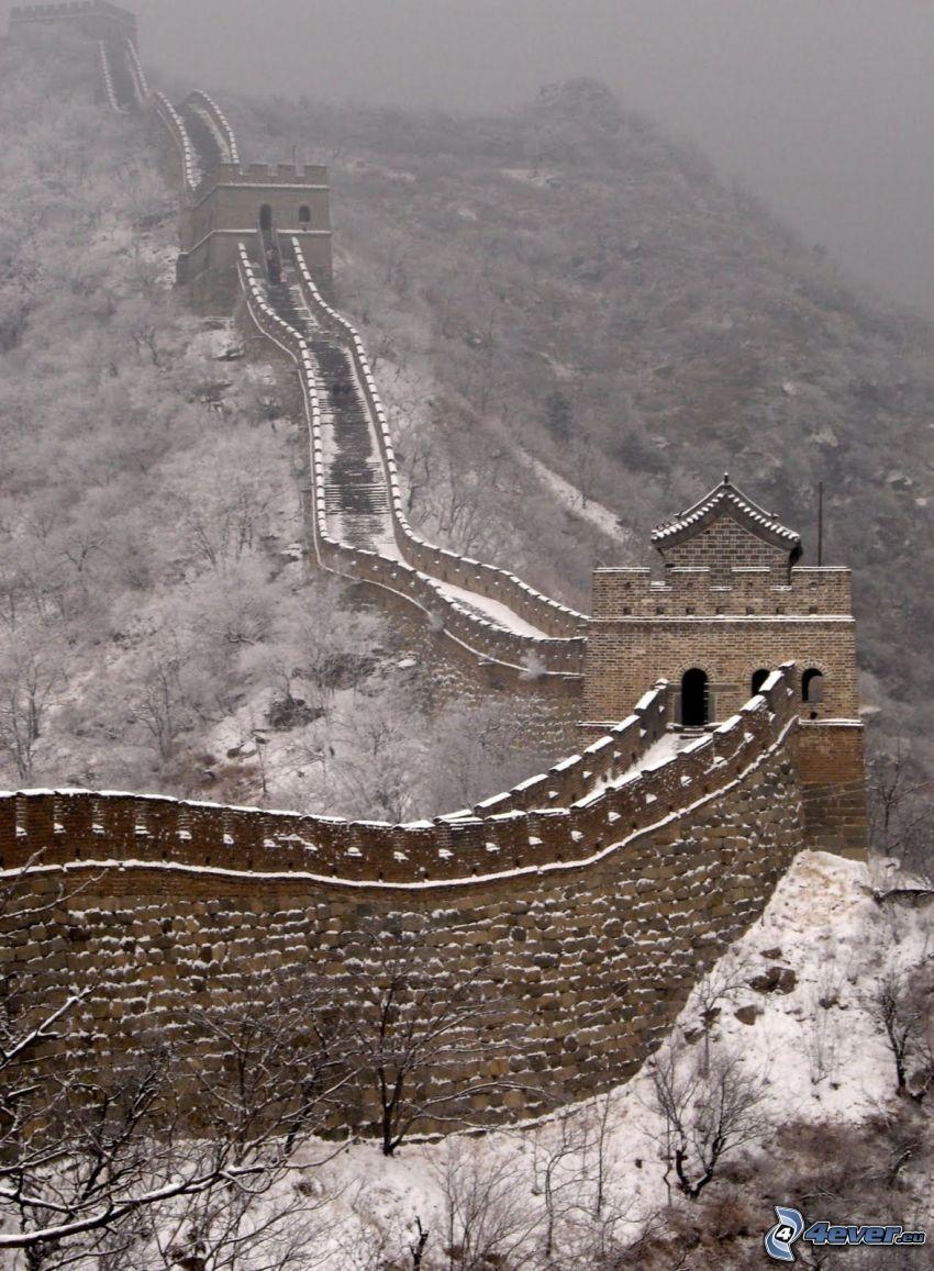 Kinesiska muren, snö