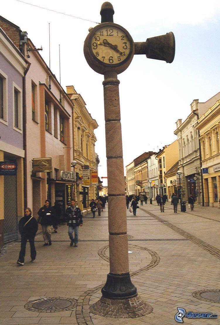 klocka, gångväg, Nitra