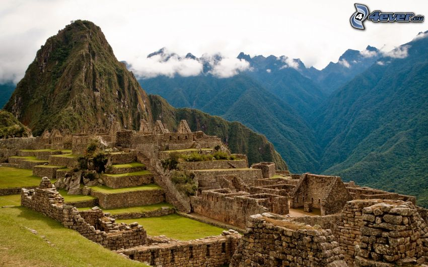 Machu Picchu, berg, Peru, Amerika, kullar
