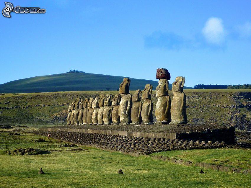 Moai statyerna, påsköarna