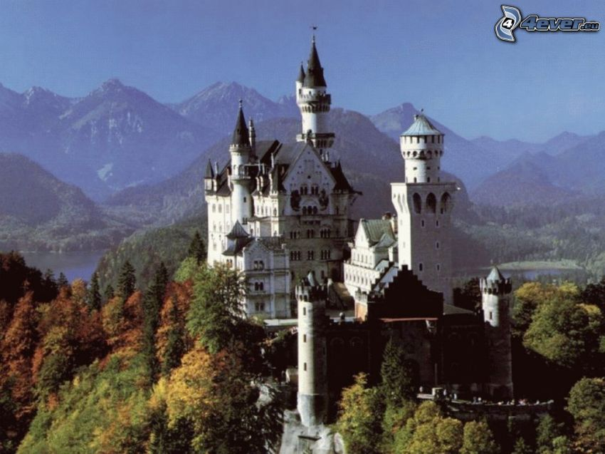 Neuschwanstein slott, slott