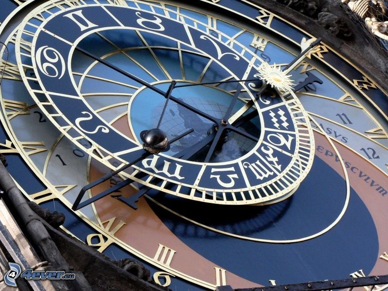 Orlojklockan, Prag, klocka