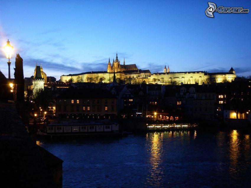 Prag, slott, Vltava