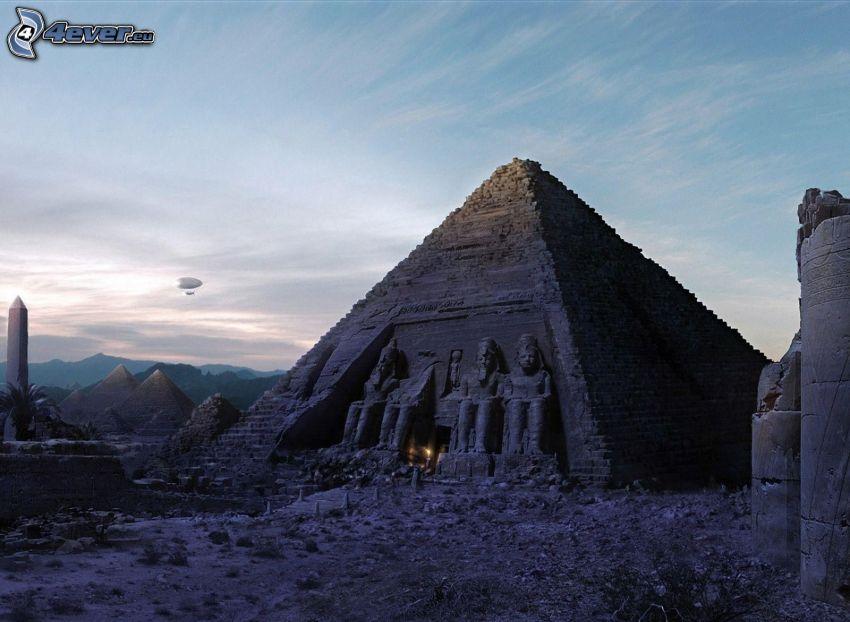 pyramid, Egypten