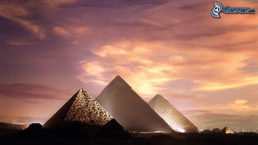 pyramiderna i Giza, himmel