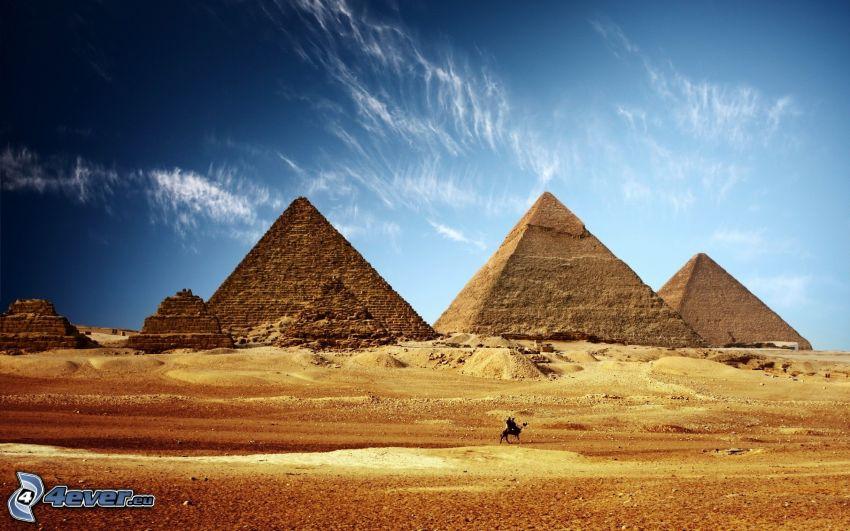 pyramiderna i Giza, öken