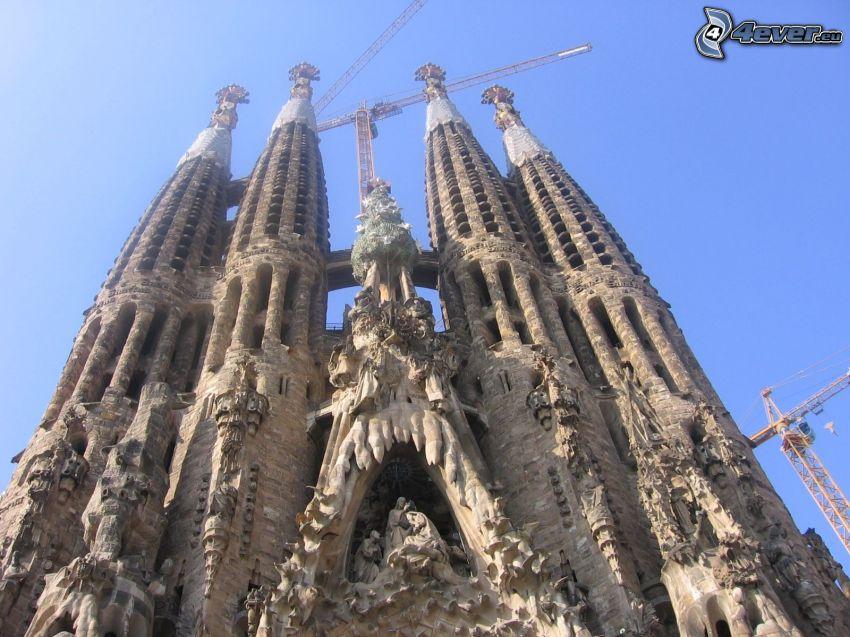 Sagrada Familia, lyftkran
