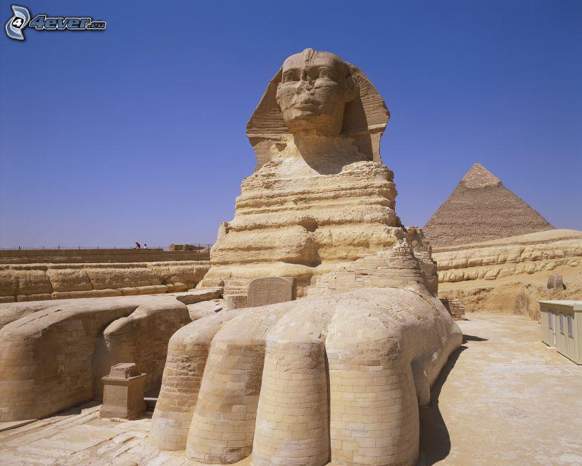 sfinx, pyramid