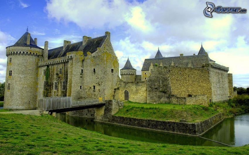 slott, England, befästning