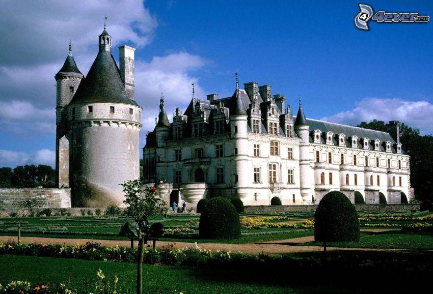 slott, trädgård