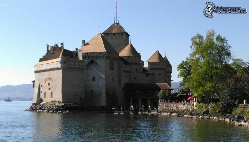 slottet Chillon, flod