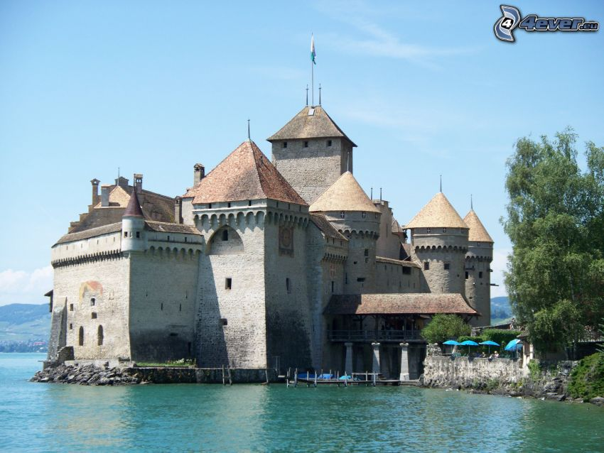 slottet Chillon, flod