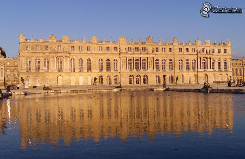 Slottet i Versailles, sjö, spegling
