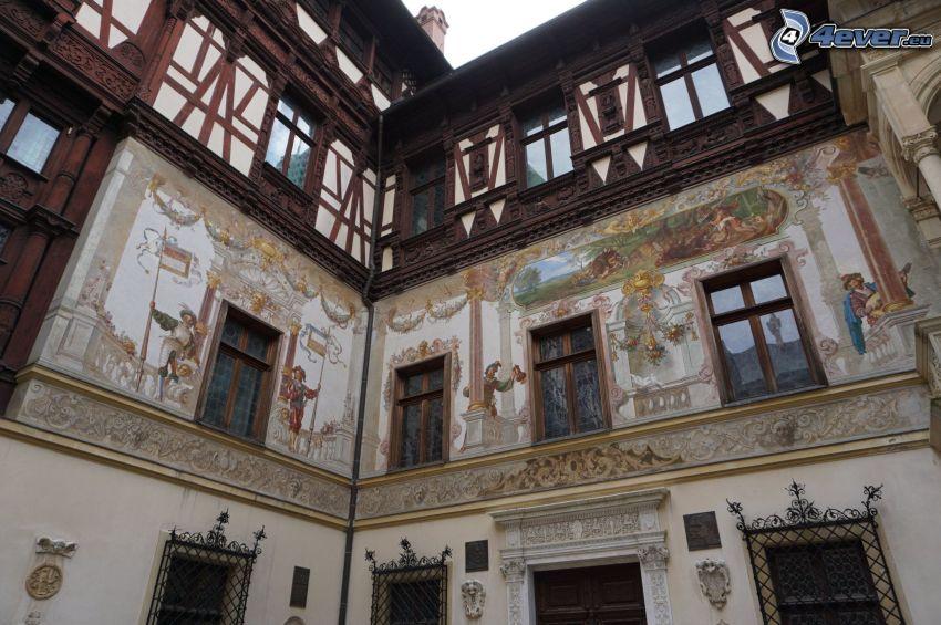slottet Peles, fönster