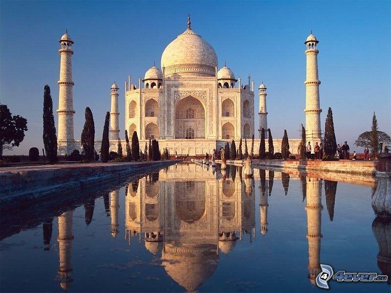 Taj Mahal, vatten, park