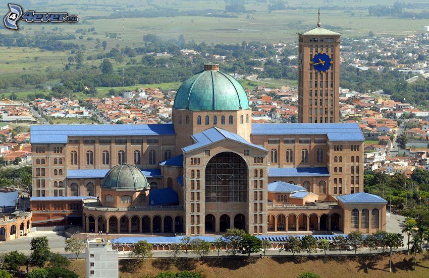 tempel, Brasilien, stadsutsikt