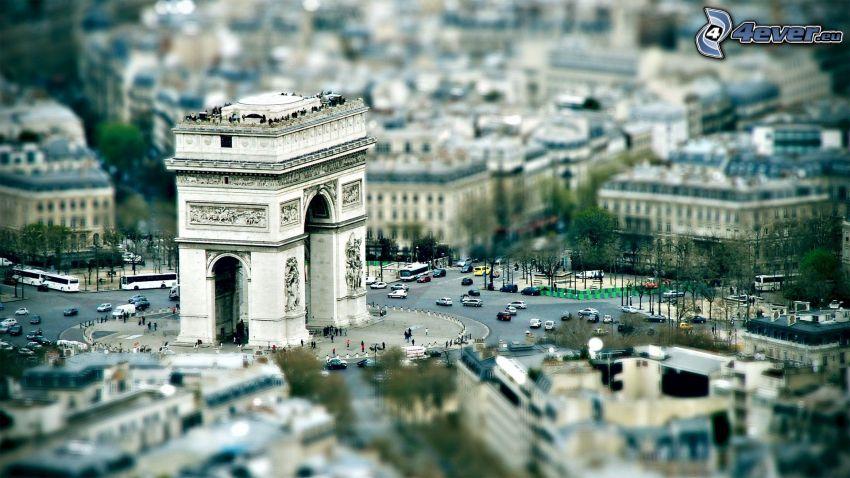 Triumfbågen, Paris, diorama