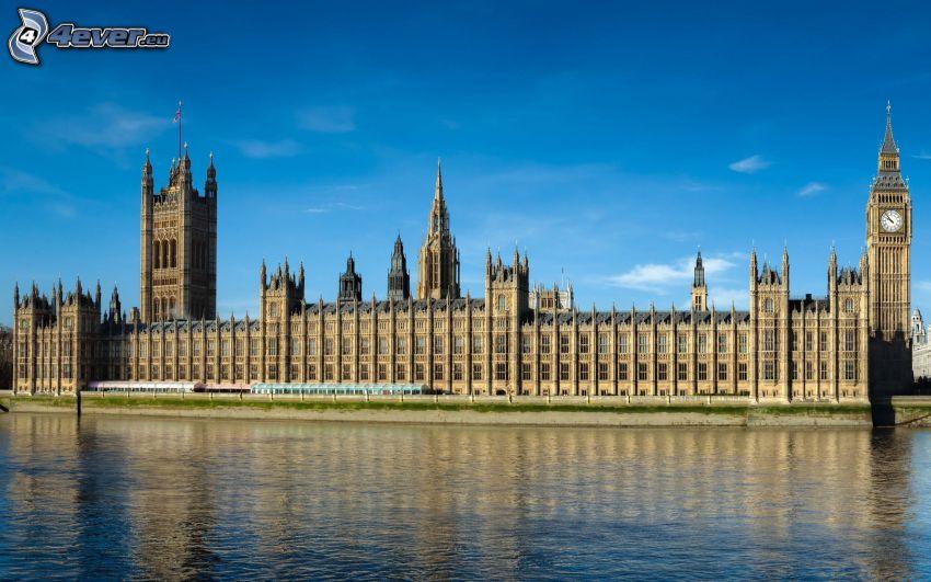 Westminsterpalatset, Big Ben, London, England, Thames
