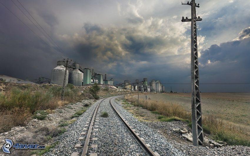 järnväg, fabrik