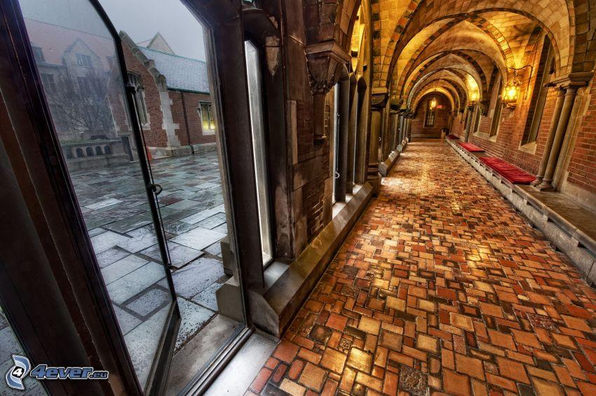 korridor, katedral, gata