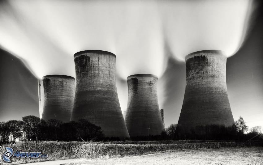 kraftverk, skorstenar
