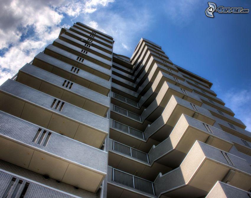 lägenheter, himmel