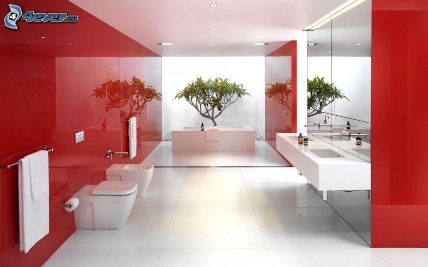 badrum, tvättställ, badkar