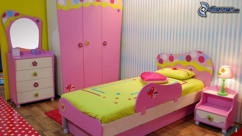 barnkammare, säng