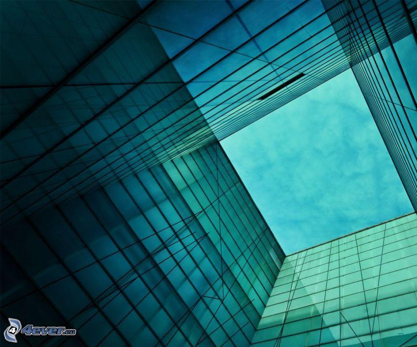 byggnader, fönster, tunnel