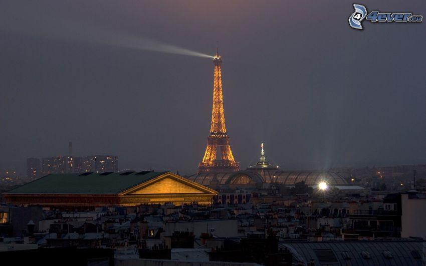 Eiffeltornet på natten, Paris