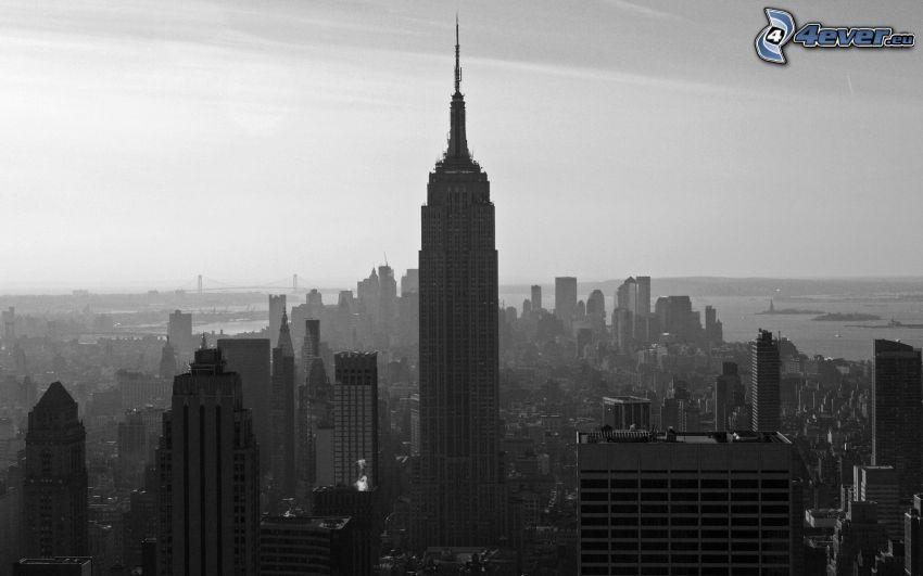 Empire State Building, svart och vitt