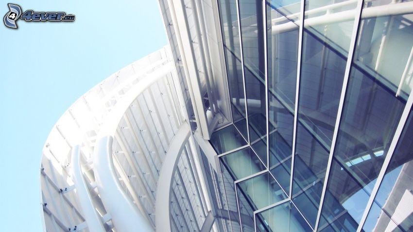 fönster, skyskrapa