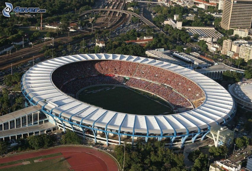 fotbollsstadion, Rio De Janeiro, Brasilien
