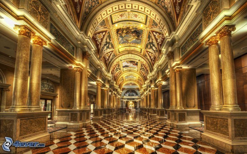 Hotel Royal, korridor, HDR