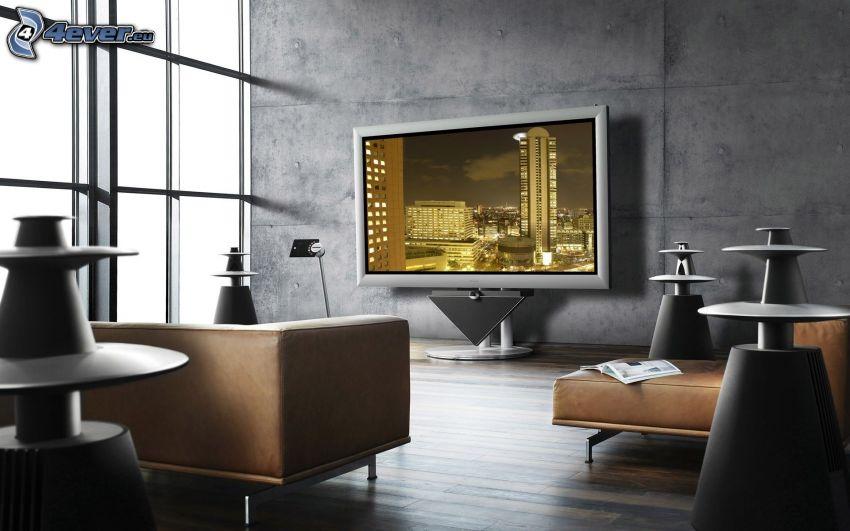 lyxigt vardagsrum, TV