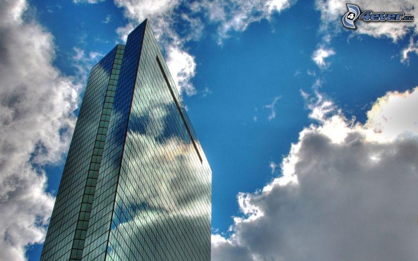 skyskrapa, moln