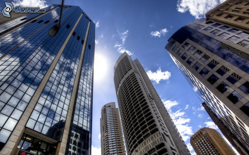 skyskrapor, Sydney, Australien