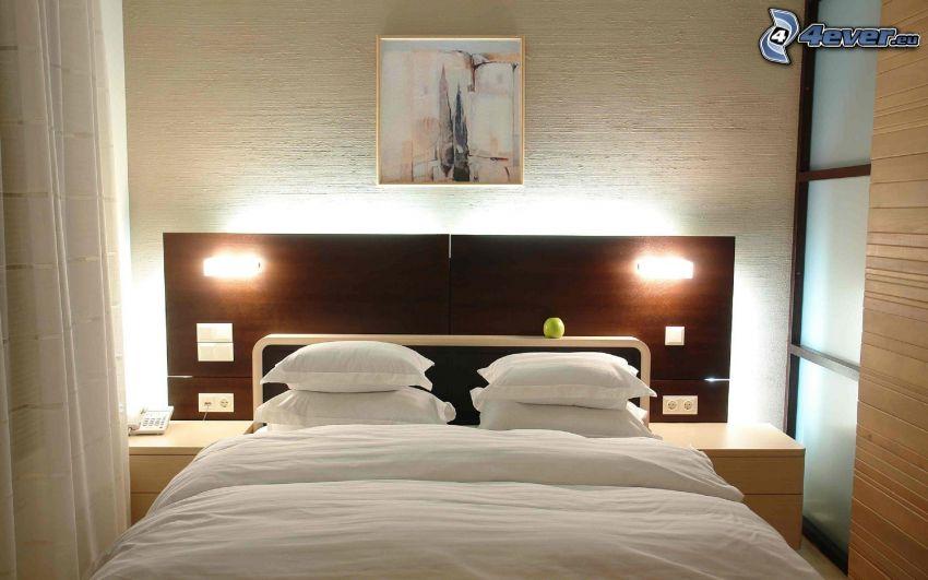 sovrum, dubbelsäng, bild